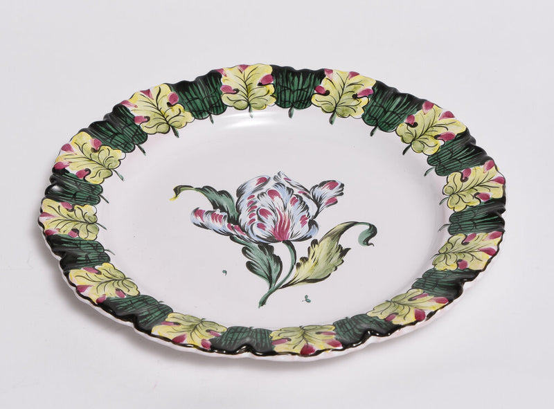 Set of 6 Hand Painted Tulip Plates