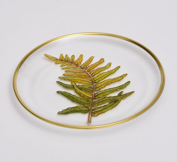 Glass Fern Plate