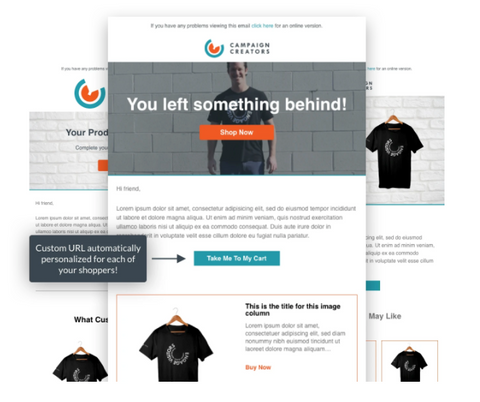 Campaign Creators abandoned cart email templates