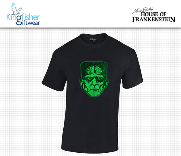 One of the T-shirt designs for Mary Shelley's House of Frankenstein