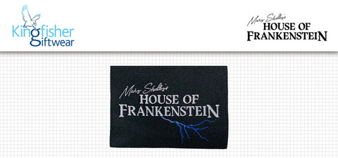 Custom neck tags for Mary Shelley's House of Frankenstein