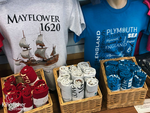 Mayflower-museum-t-shirts-created-by-Kingfisher-Giftwear