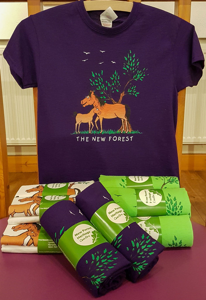 New-forest-Heritage-centre-t-shirts-produced-by-Kingfisher-Giftwear