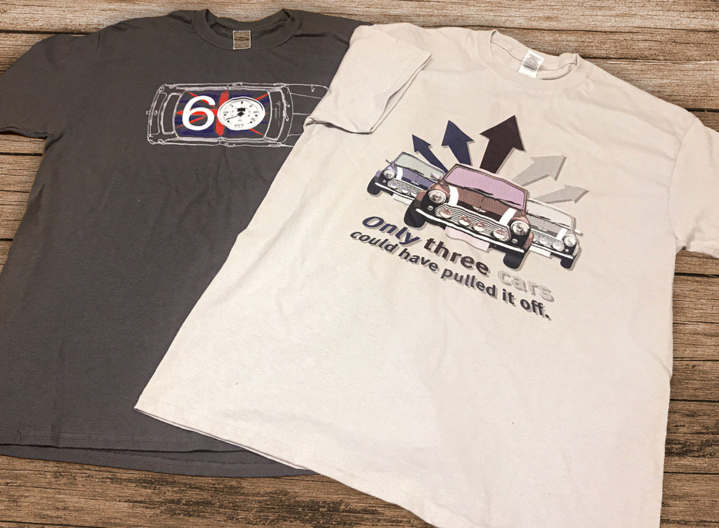 Paying homage to the mini with T-shirts at the Cotswold Motoring Museum supplied by Kingfisher Giftwear
