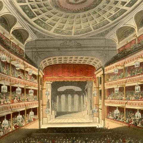 Illustrations of the first and second theatres - Royal Opera House