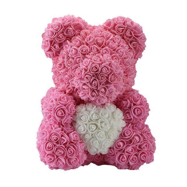 Luxury Rose Bear Limited Edition W/ Heart