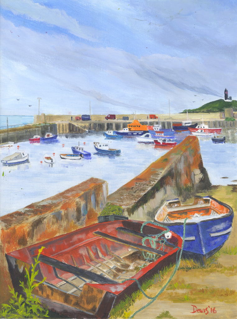 Boats in Ballycotton - The Art of Phil Davis