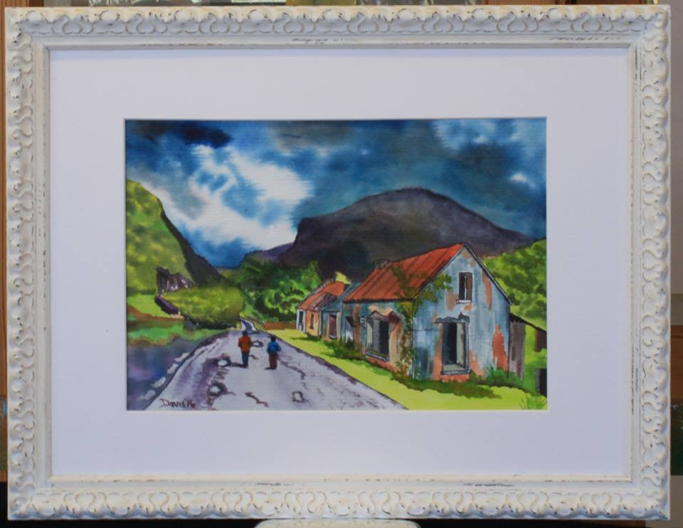 Derelict Cottages at Dunloe Gap - The Art of Phil Davis