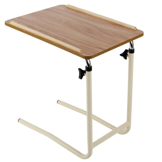 Overbed table without castors
