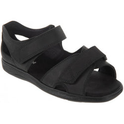 Cosyfeet Bingley-Touch-Fastening-Sandals-black