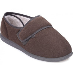 Cosyfeet Richie-Touch-Fastening-Slippers-brown