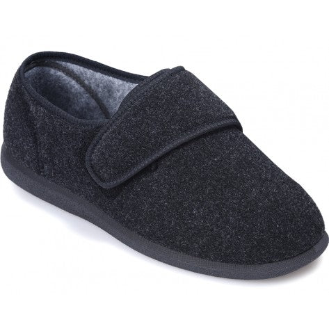 Cosyfeet Richie-Touch-Fastening-Slippers-charcoal