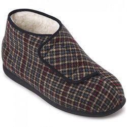 Cosyfeet Gents Robbie Touch Fastening Bootee Warmlined Slippers