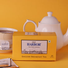 Load image into Gallery viewer, Old Harbor English Breakfast Tea 25 Tea Bags