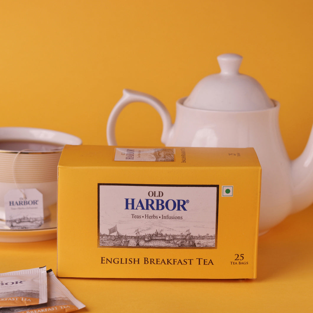 Old Harbor English Breakfast Tea 25 Tea Bags