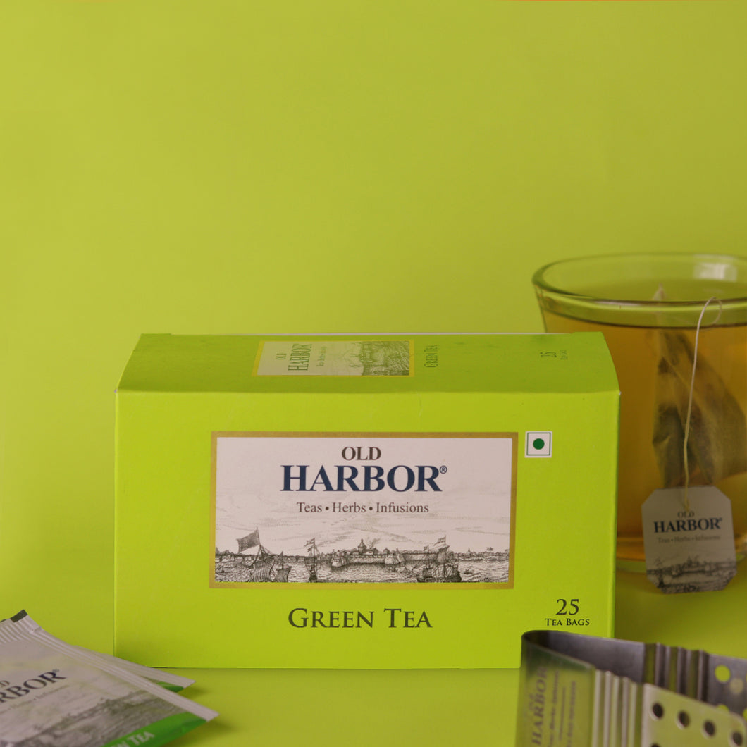 Old Harbor Green Tea 25 Tea Bags (Green)
