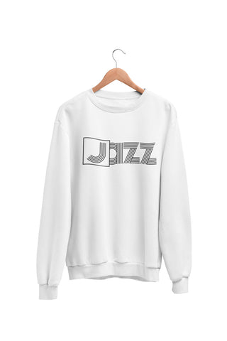 WRWTFWW RECORDS - It 's a JAZZ sweatshirt! CREWNECK (white)