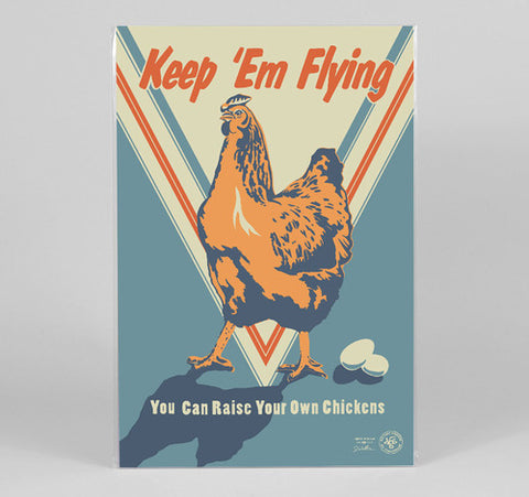 J. WIRTHEIM - Keep 'Em Flying Full Color Poster