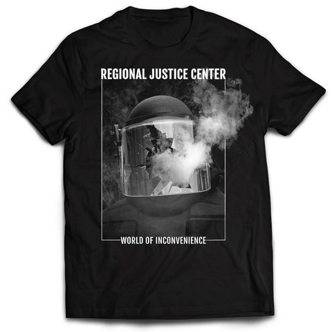 REGIONAL JUSTICE CENTER - World Of Inconvenience T-SHIRT