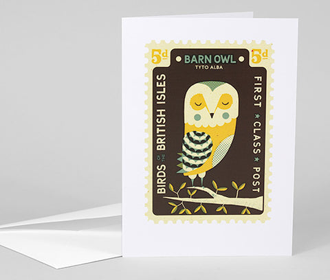 TOM FROST - Barn Owl Postcard