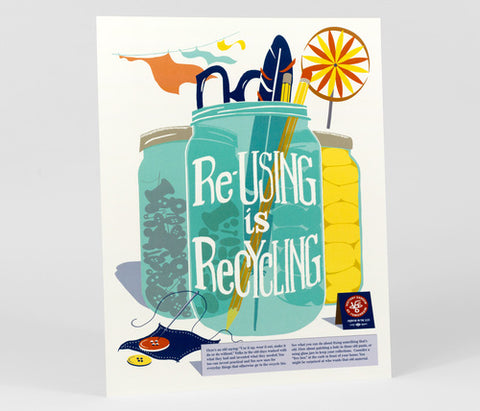 J. WIRTHEIM - Re-Using is Recycling Full Color Poster