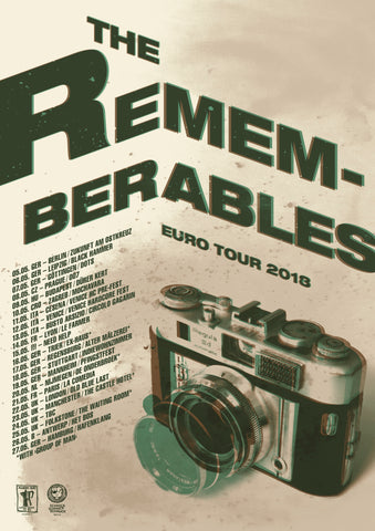 THE REMEMBERABLES - euro Tour Poster
