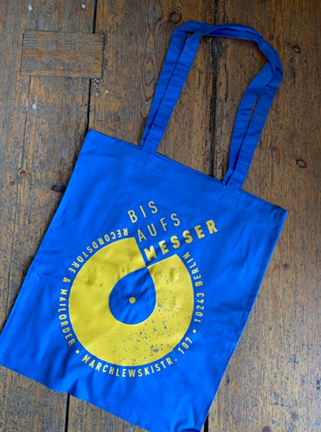 BIS AUFS MESSER - Logo TOTE BAG (Blue)