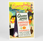 J. WIRTHEIM - Everybody's at the Queen Anne Farmers Market Full Color Poster