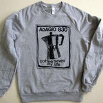 ADAGIO830 - coffee saves my life Crew Neck