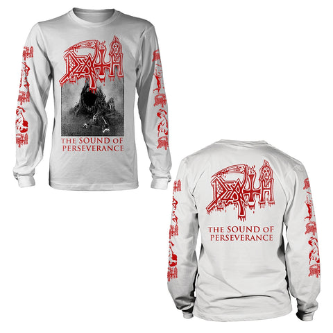 DEATH - The Sound Of Preserverance  LONGSLEEVE white