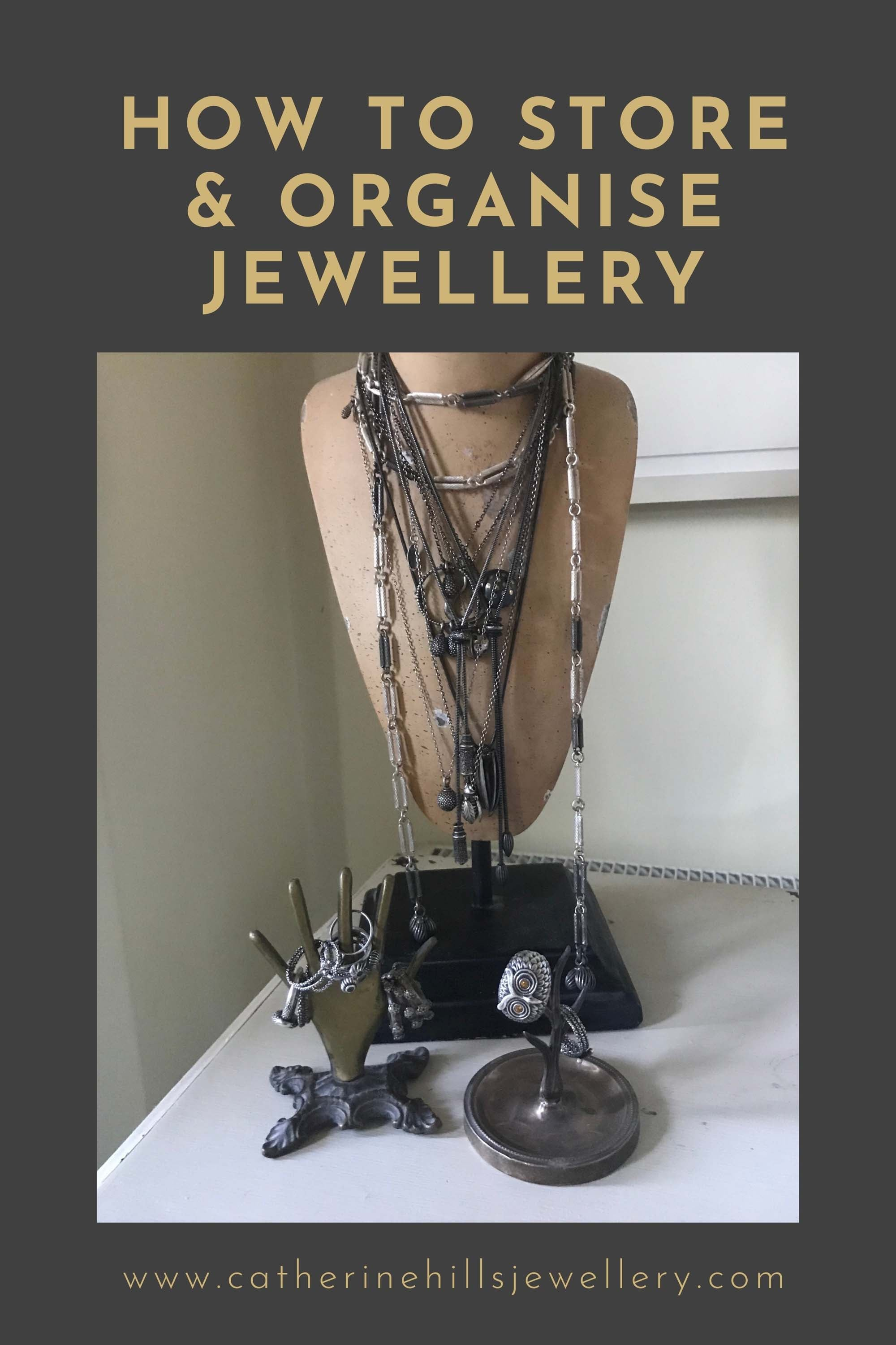 How to store and organise jewellery by Catherine Hills
