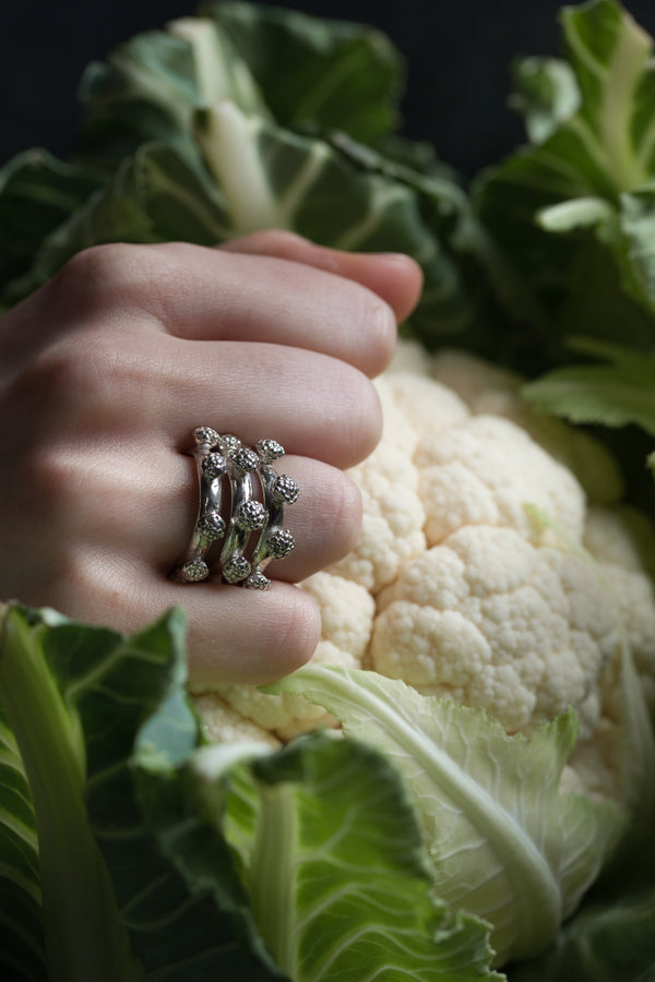 Cauliflower Trio Ring