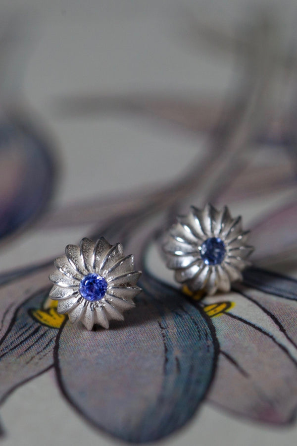 December Tanzanite Birthstone Satsuma Studs