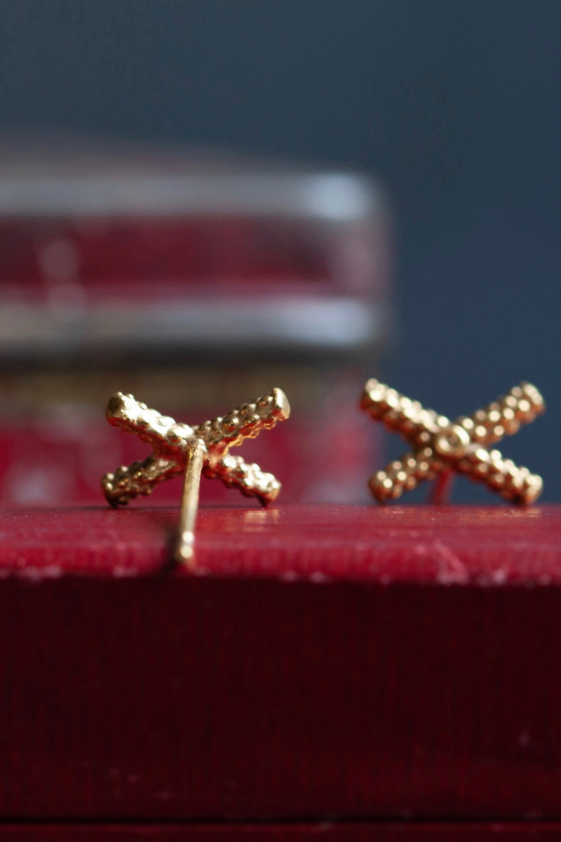 Tiny Kiss Cross Studs