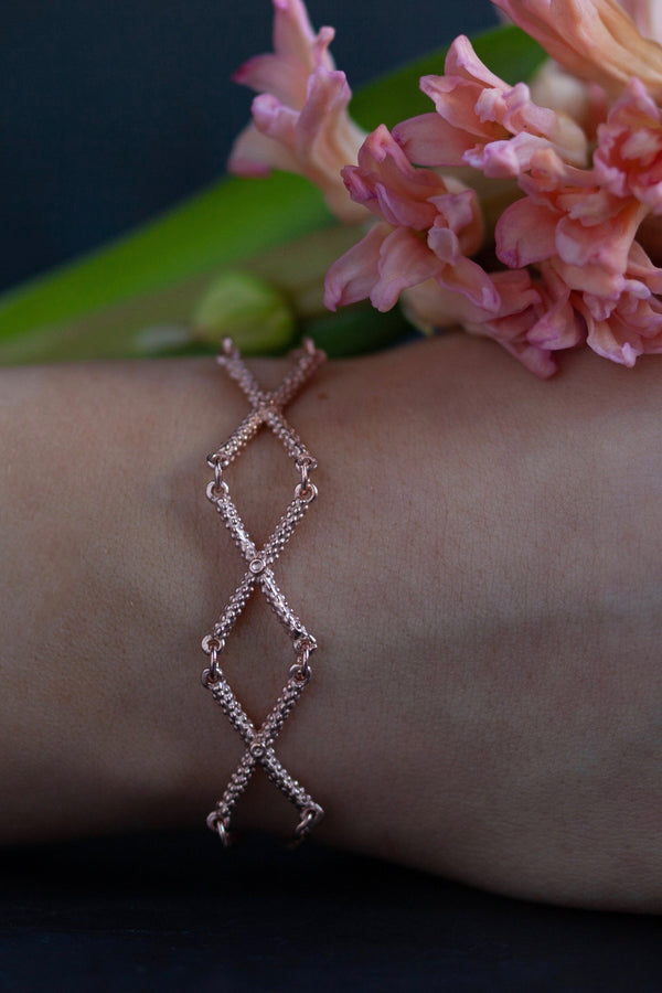 Triple Kiss Cross Bracelet