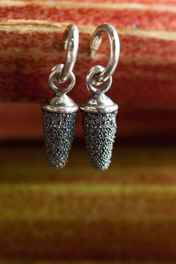 Textured Pod Drop Earrings - As Seen in Harry Potter