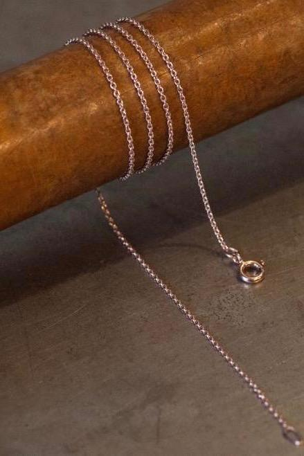 A  fine trace chain in rose gold plated silver especially for charms to hang on
