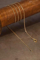 A fine trace chain in yellow gold plated silver especially for charms to hang on