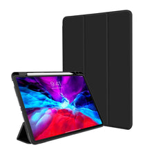 Load image into Gallery viewer, ProElite Smart Flip Case Cover for Apple iPad Air 4 10.9 inch with Pencil Holder, Soft Flexible Back Cover, Black