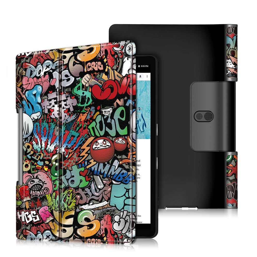 ProElite PU Leather Flip case Cover for Lenovo Yoga Smart Tab 10.1 YT-X705X & YT-X705F Tablet, Hippy