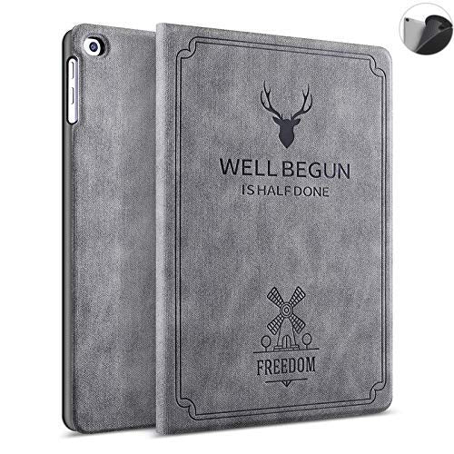 ProElite Deer Flip case Cover for Lenovo Tab M10 HD TB-X505F TB-X505L [Will NOT Fit TB-X650lc Model], Grey