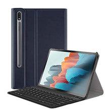 "Load image into Gallery viewer, ProElite Detachable Wireless Bluetooth Keyboard flip case Cover for Samsung Galaxy Tab S7 Plus 12.4"" SM-T970/T975/T976, Navy Blue"