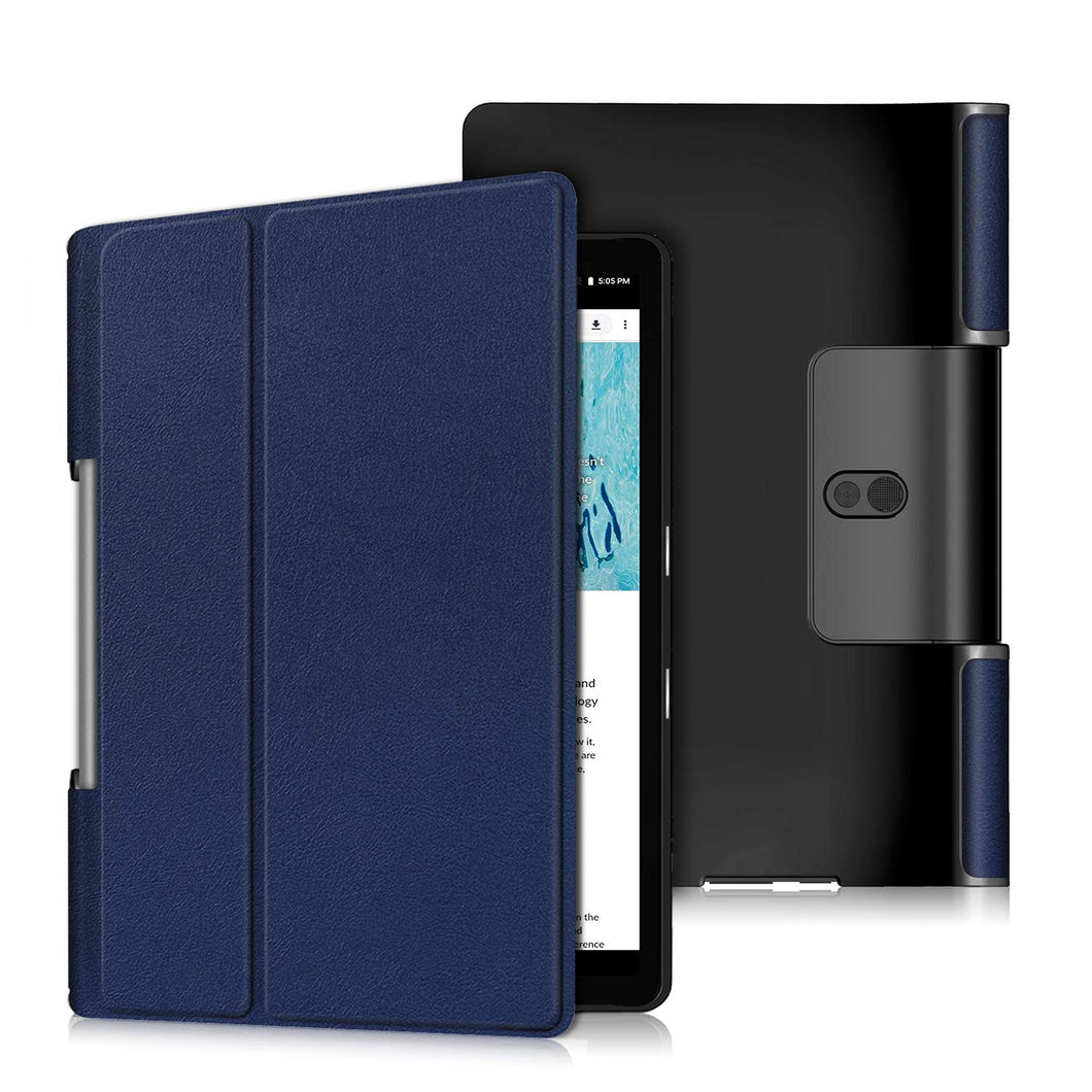 ProElite PU Leather Flip case Cover for Lenovo Yoga Smart Tab 10.1 YT-X705X & YT-X705F Tablet, Dark Blue