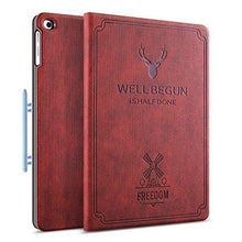 Load image into Gallery viewer, ProElite Deer Flip case Cover for Samsung Galaxy Tab S6 Lite 10.4 Inch SM-P610/P615 (Supports S Pen Magnetic Attachment), Wine Red