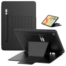 "Load image into Gallery viewer, ProElite Magnetic 7 Angles Smart case Cover for Apple iPad 10.2"" 8th Gen / 7th Gen 2020 with Apple Pencil Holder, Black"