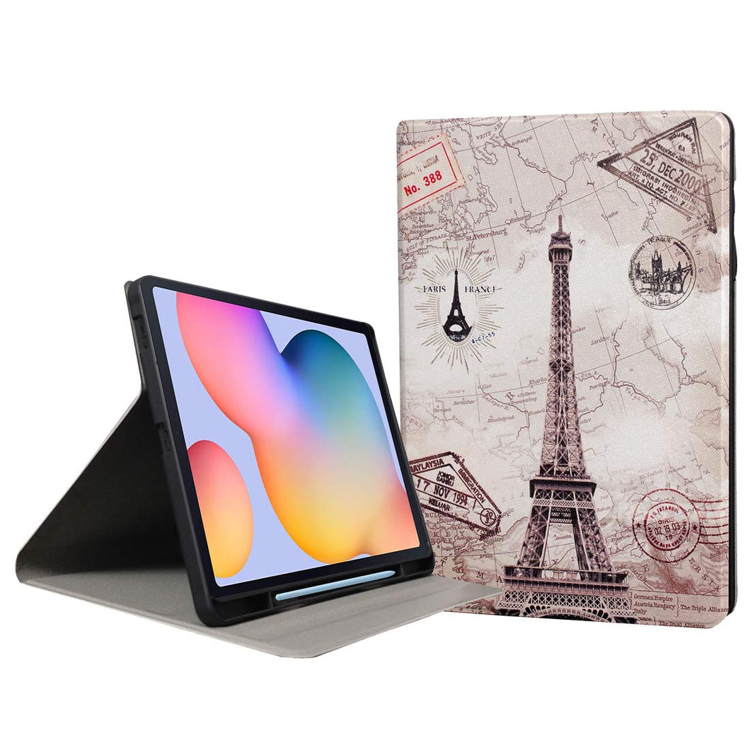 ProElite Smart Multi Angle case Cover for Samsung Galaxy Tab S6 Lite 10.4 Inch SM-P610/P615 with SPen Holder [Eiffel]