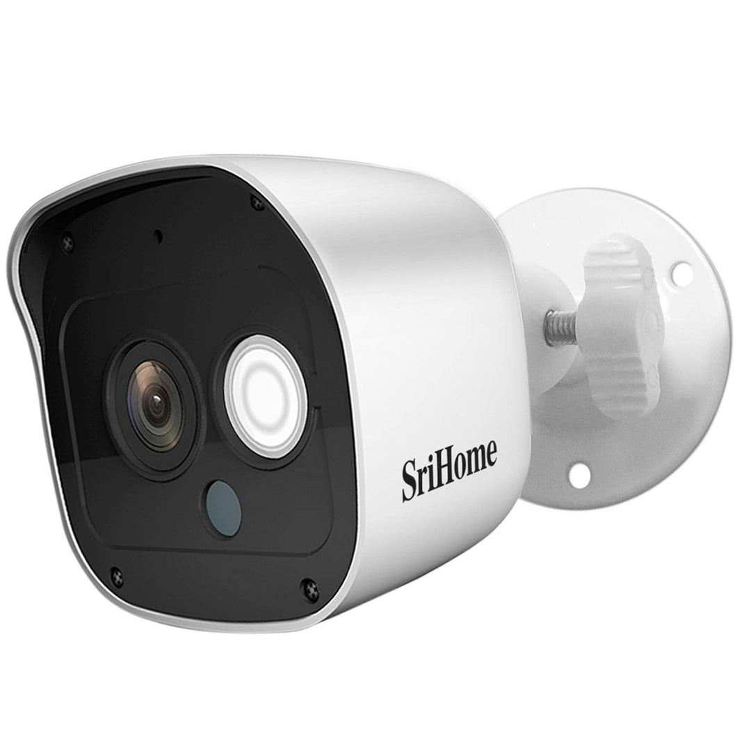 Srihome SH029 3MP Ultra HD 1296p Wireless WiFi Waterproof Indoor/Outdoor IP Security Camera CCTV with 2 Way Audio