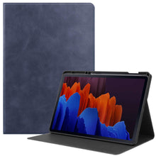 Load image into Gallery viewer, ProElite Smart Flip case Cover for Samsung Galaxy Tab S7 Plus 12.4 Inch SM-T970/T975/T976 with SPen Holder, Dark Blue
