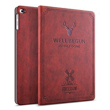 "Load image into Gallery viewer, ProElite Deer Flip case Cover for Samsung Galaxy Tab A 10.1"" T510/T515 (Wine Red)"