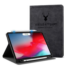 "Load image into Gallery viewer, ProElite Smart Deer Flip case Cover for Apple iPad Pro 11"" 2020, 2nd Generation with Pencil Holder (Black)"